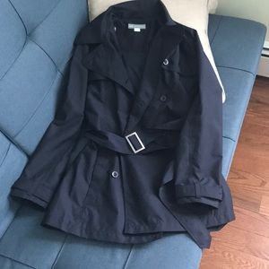 Trench coat size m, runs larger,